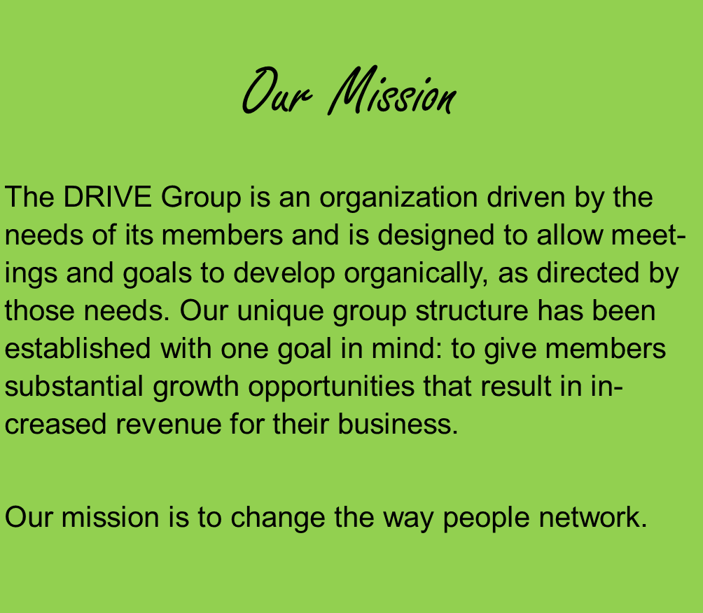The mission of the DRIVE Group